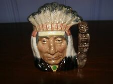"""Royal Doulton American Indian 4"""" Toby Character Jug D6614, Copr 1966"""