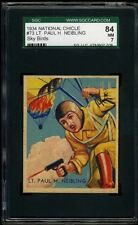 1934 National Chicle Sky Birds #73 Lt. Paul H. Neibling SGC 84 NM #1230937-026
