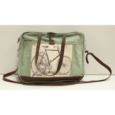 Canvas and Leather Unisex Tricycle Messenger Bag