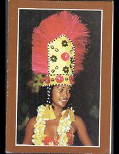 TAHITI (POLYNESIE) LYCEE GAUGUIN / Femme avec COIFFURE Traditionnelle de fete