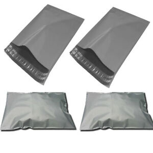 """100 x 10x14 *Grey Postage Mailing Bags* OFFER 10"""" x 14"""""""