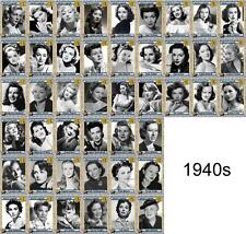 Actresses of the 1940s Movie Trading Cards Bacall Garland Lamarr Simmons Lake