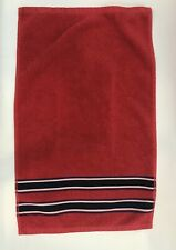 Tommy Hilfiger Hand Towel Red White Blue Stripe Nautical Americana