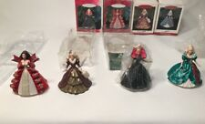 4 HALLMARK 'HOLIDAY BARBIE' ORNAMENT- Collectors in SERIES NEW And Used Lot