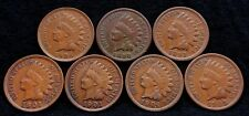 LOT OF 7 INDIAN HEAD CENTS FUL LIBERTY NICE COINS IL-1