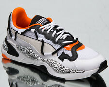 Puma x Mr Doodle RS-2K Men's White Black Dragonfire Low Lifestyle Sneakers Shoes