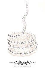 Exotic Collection Wrap Bracelet In Silver Bohemian Gypsy Elegant Evening Wear