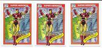 (3) 1990 Impel Fleer Marvel Universe Series 1 Iron Man RC #42 LOT
