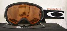 OAKLEY CANOPY MATTE BLACK PERSIMMON MASCHERA SKI SNOWBOARD NEW