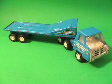 Buddy L Semi Truck and Trailer Made In Japan Blue Color. Goodyear