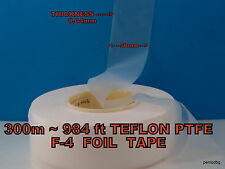 300m~984ft TEFLON PTFE F-4 FOIL TAPE 0.04mmX50mm USSR MYLITARY FACTORY PACK