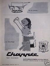 PUBLICITÉ CHAPPÉE GAZ CHARBON DE LA CUISINE AU CHAUFFAGE