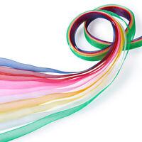 "50yards/roll Mixed Color Organza Ribbon Wedding Craft Xmas 3/8"" Width"