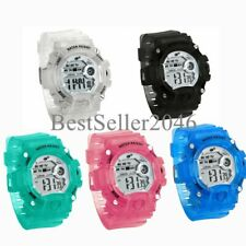 Kids Boys Girls LED Sports Digital Electronic Multifunction Alarm Wrist Watch