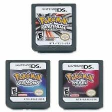 A lot of 3 Nintendo Pokemon Platinum+Diamond+Pearl Version Game Card Cartridges