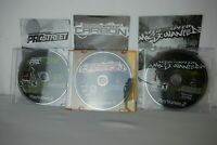 Need for Speed Bundle, Most Wanted, ProStreet,Carbon All PS2 All have Manuals