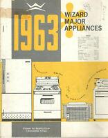 VINTAGE 1963 WESTERN AUTO APPLIANCE CATALOG! FANS/RANGES/REFRIGERATORS/SEWING+++