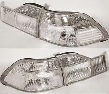 CLEAR 98-00 Honda Accord 4 Door Sedan Left Right Brake Rear Tail Light Lamps SET