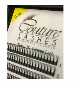 Couture Lashes Pre Made Russian Volume Fan Eyelashes 0.20mm Thick