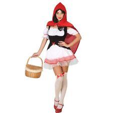 Costume Halloween Vestito Cappuccetto Rosso Carnevale Donna cosplay adulto festa