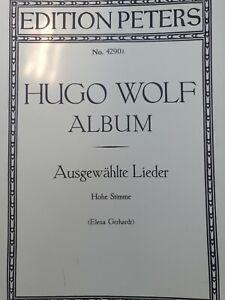 Hugo Wolf Album Ausgewahlte Lieder (for high pitched voice) No4290 - Sheet Music