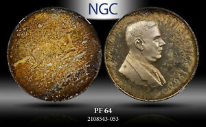 1967 SOUTH AFRICA 1 RAND SILVER DR. VERWOERD-AFRIKAANS NGC PF 64 PROOF