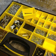 Herramienta de montaje en pared/banco Bits Caja -4 caso de administración de Bandeja Cajón-hágalo usted mismo 40k de almacenamiento
