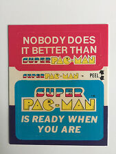 1982 SUPER PAC-MAN NOBODY DES IT BETTER /IS READY WHEN YOU ARE STICKER PACK CARD