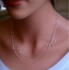 Pendant Silver Chain Choker Chunky Statement Bib Necklace Jewelry Charm new