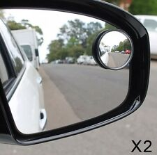 "2 x BLIND SPOT MIRROR ROUND ADHESIVE 2"" INCH EASY FIT WIDE VIEW ANGLE VAN CAR"