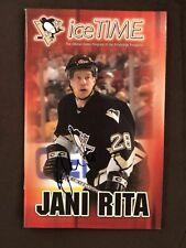 Jani Rita Autograph Pittsburgh Penguins Sga Ice Time Program Signed Rare