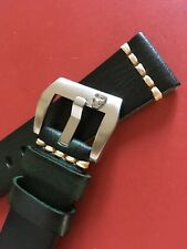 22-20 mm, genuine leather watch strap, skull buckle, hand-sewn New