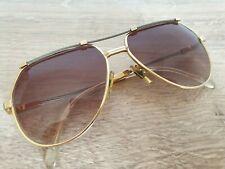Vintage 80's Pierre Cardin Plus Cp 805 Rare Gold & Braided Silver Sunglasses