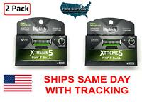 2 Pack Schick Xtreme 5 Pivot Ball Men's 5 Blade Razor Refill 8 Cartridges (READ)