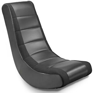 Crew Furniture Classic Video Rocker Gaming Chair, Anti-tipping rocking, Black