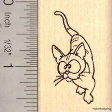 Cute Comic Cat Rubber Stamp E14007 WM