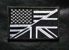 USA UK FLAG EMBROIDERED MILITARY 3 INCH HOOK TACTICAL PATCH