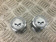 HARLEY DAVIDSON FXDC DYNA SUPER GLIDE FRONT SPINDLE COVERS   YEAR 2012 STOCK 436