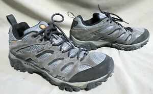 MENS MERRELL CONTINUUM GRAY SUEDE HIKING RUNNING ALL TERRAIN SHOES 9.5