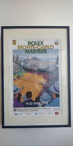 Official Rolex Monte Carlo Masters 2018 Poster - Framed ATP Tennis 60x40cm - NEW