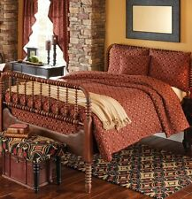 5PC CAMPBELL WINE KING QUILT BEDDING SET/BEDDING PACKAGE By PARK DESIGNS