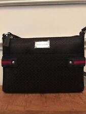 TOMMY HILFIGER Womens Handbag Black & Red Crossbody Messenger Bag NEW NWT $69