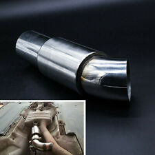 "Car Modify Exhaust Muffler Resonator 2.5""/63mm Stainless Steel Polished Silencer"