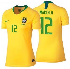 NIKE MARCELO BRAZIL HOME WOMEN'S JERSEY FIFA WORLD CUP 2018