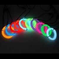 Rope LED Strip Neon Light Dance Party Decor Car Flexible + 3V/12V/USB Controller