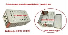 Orthopedic Lcp Box 50mm Locking Screw Instruments Empty Case Tray Box Surgical