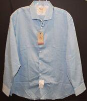 Penguin by Munsingwear Aqua Blue Heritage Slim Button-Front Shirt NWT 17 32/33