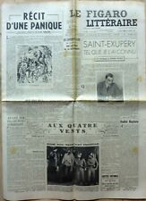 Journal LE FIGARO LITTERAIRE 1952: SAINT-EXUPERY_ANDRE GIDE_Obsèques GEORGE VI