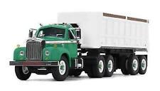 2018 First Gear 1 64 LT Green White Mack B-61 Semi Truck W/22' Dump Trailer