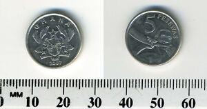 Ghana 2007 - 5 Pesewas Nickel Plated Steel Coin - Native male blowing horn
